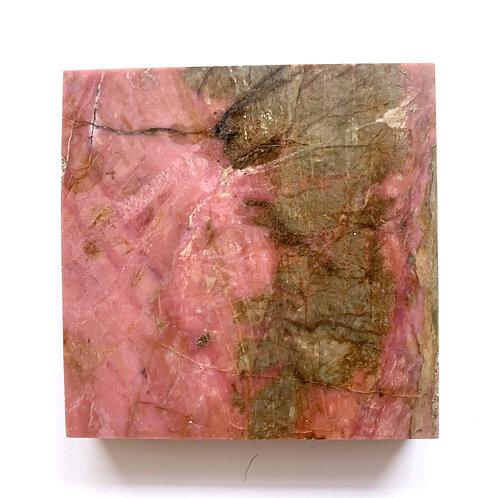 Rhodonite Square  Crystal Slab