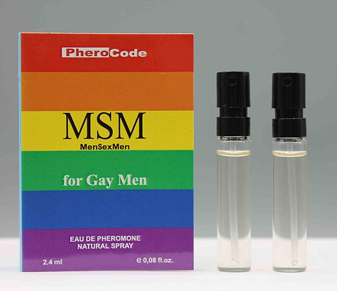 PheroCode MSM Eau de Pheromone for Gay Men  2.4ml+2.4ml