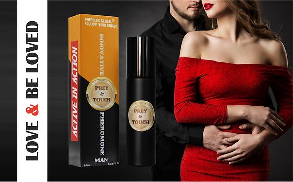 Prey&Touch Pulse Point Pheromone Oil for Men 10ml