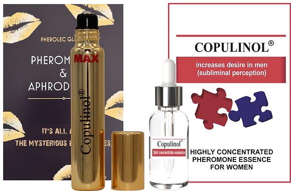 COPULINOL MAX 8ml Roll-On & COPULNIOL 5ml 100% Pheromone for Women