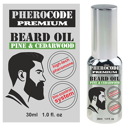 PheroCode Premium Beard Oil with Androstenonum for Men 30ml