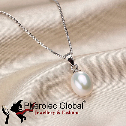 Freshwater Pearl 8-9mm A+ Quality Necklace Woman 925 Silver
