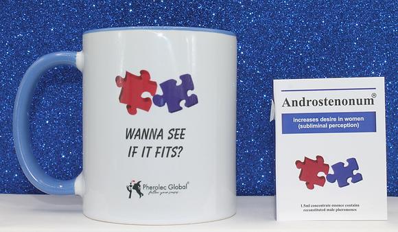 WANNA SEE IF IT FITS? 325ml Mug & ANDROSTENONUM 1.5ml 100% Pheromone for Men