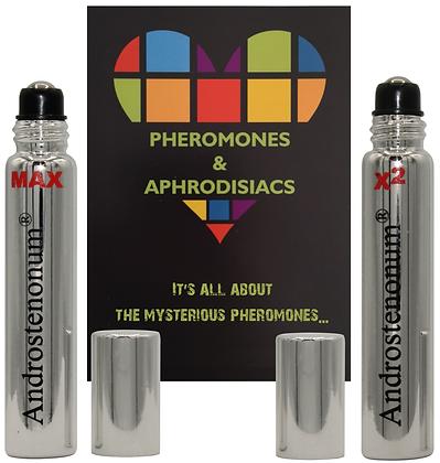 ANDROSTENONUM MAX & X2 100% Pheromone for men 2x8ml roll-on