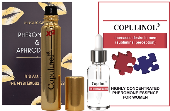 COPULINOL X2 8ml Roll-On & COPULNIOL 5ml 100% Pheromone for Women