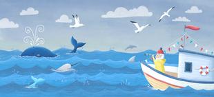 """Ozean - Illustration aus dem Buch """"Das Lied des Rotkehlchens"""""""