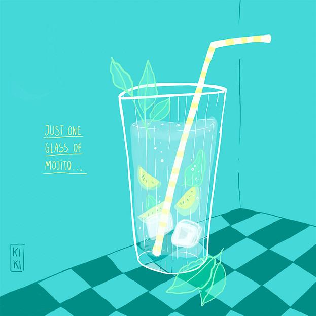 One Glass of Mojito