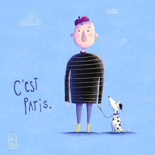 Monsieur Bleu und Petite Dalmatiner