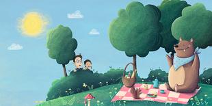 """The Bear - Illustration aus dem Buch """"Why Am I"""" (Seven Seas Press)"""