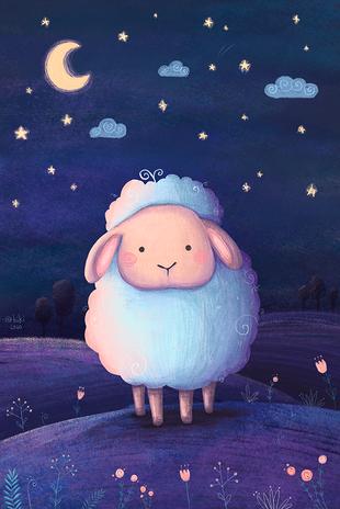 Gute Nacht, kleines Schäfchen