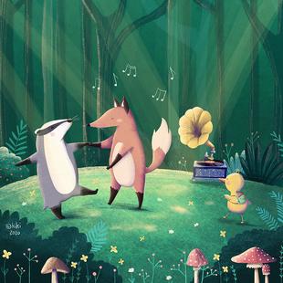 Tanz in den Wäldern