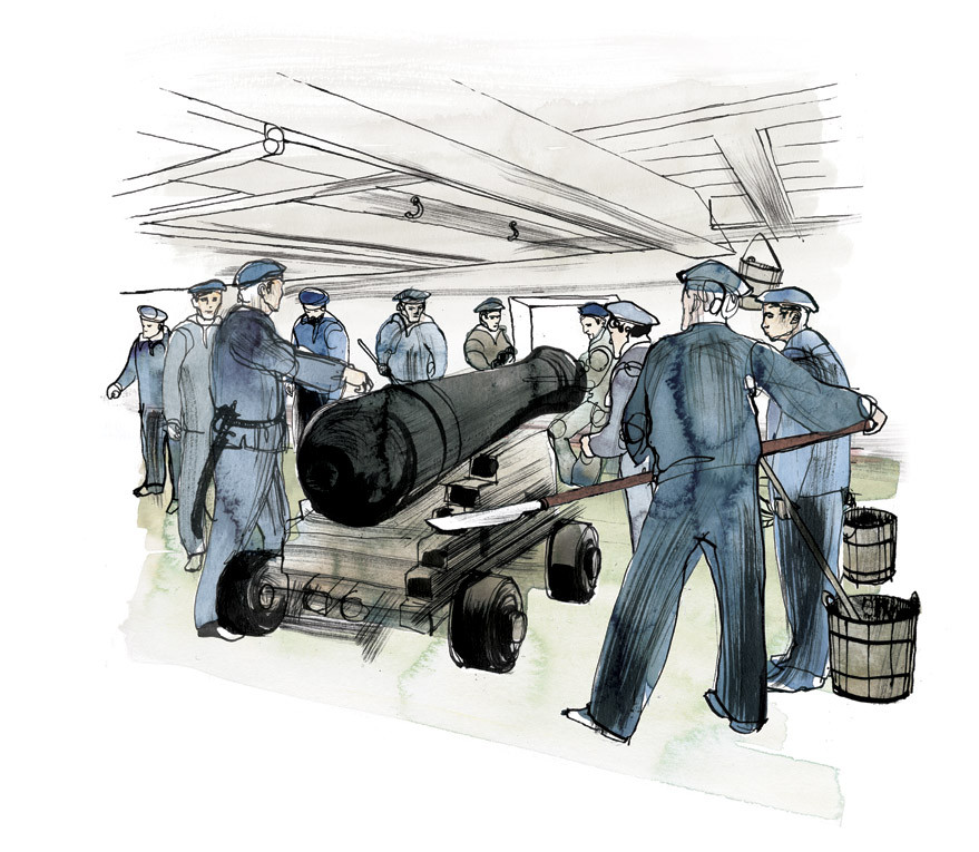 Illustration from the Poster 80X100 cm Fregatten Jylland 2017