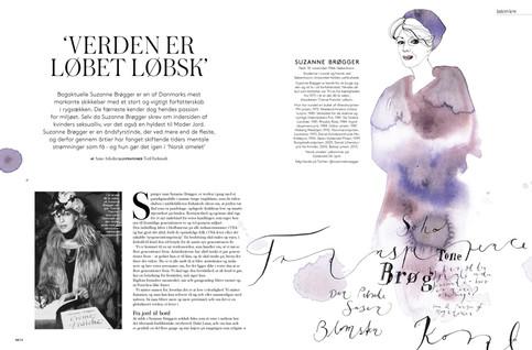 I had the pleasure illustrating a great woman in danish literature, Suzanne Broegger.