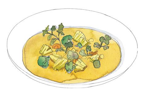 Dahlgaards grønne TIVOLI Karry m ananas