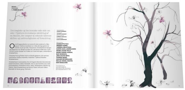 Catalog, Aarhus Theatre, The Cherry Orchard by Anton Tjekhov.