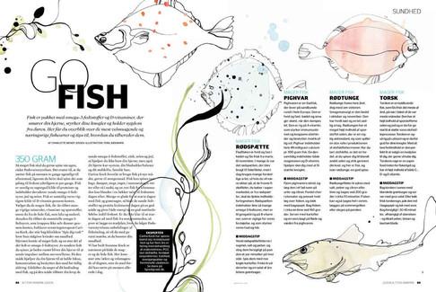 Alt for damerne, redaktionel artikel om fisk, 2016