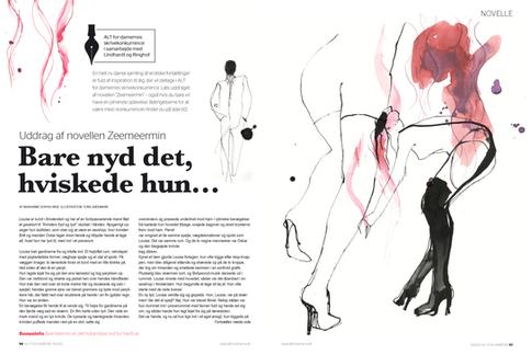 Illustrationer til Alt for damerne, semi erotiske fortællinger i perioden 2012-16