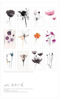 12 Flower Calendar 2015, backside