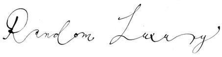 Random Luxury, logo. 2010