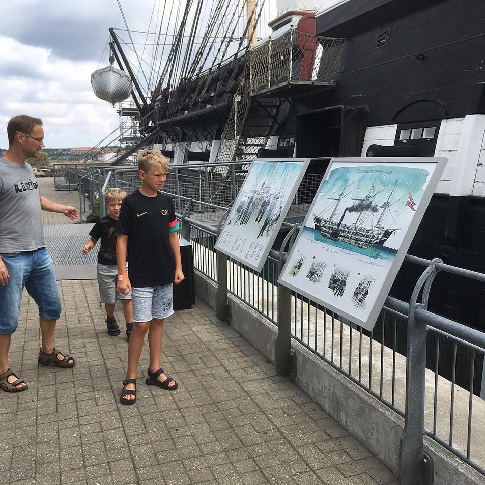 Poster 80X100 cm Fregatten Jylland 2017