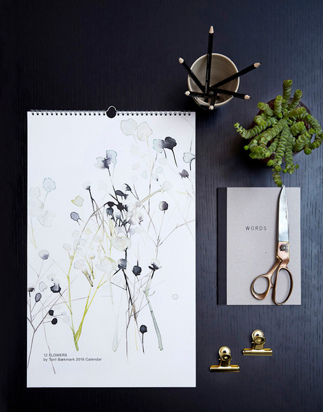 12 Flower Calendar 2016