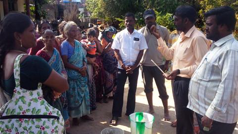 Auroville's Flood Relief Team