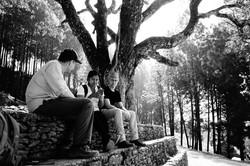 Sitting under Banyan trees at Dhola