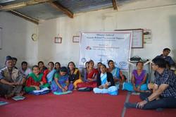 Pranhat teaching volunteers