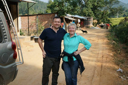 Scott & Robyn on the road to Dhading