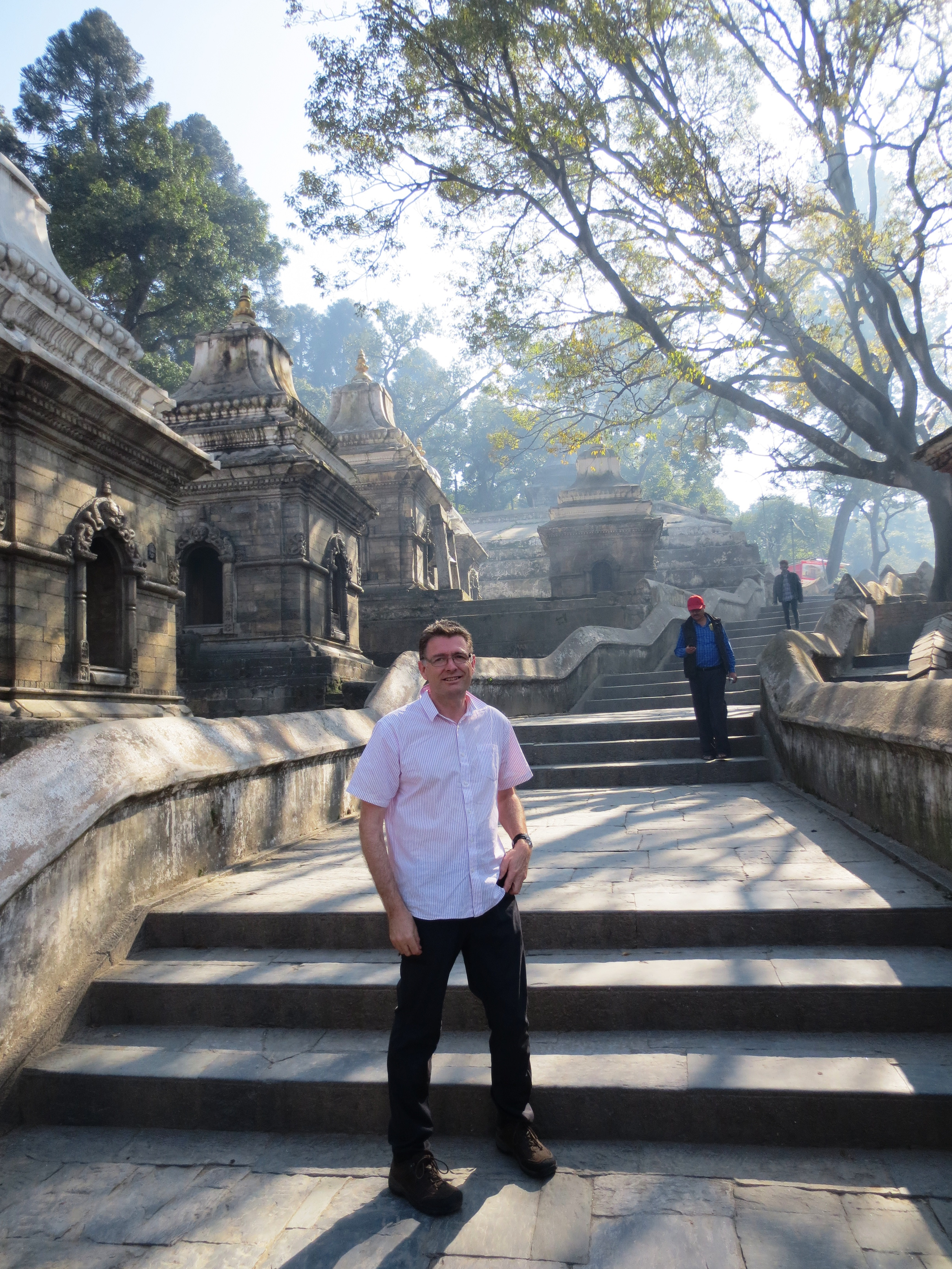 Peter Warren at Pashupatinath Nov 2015