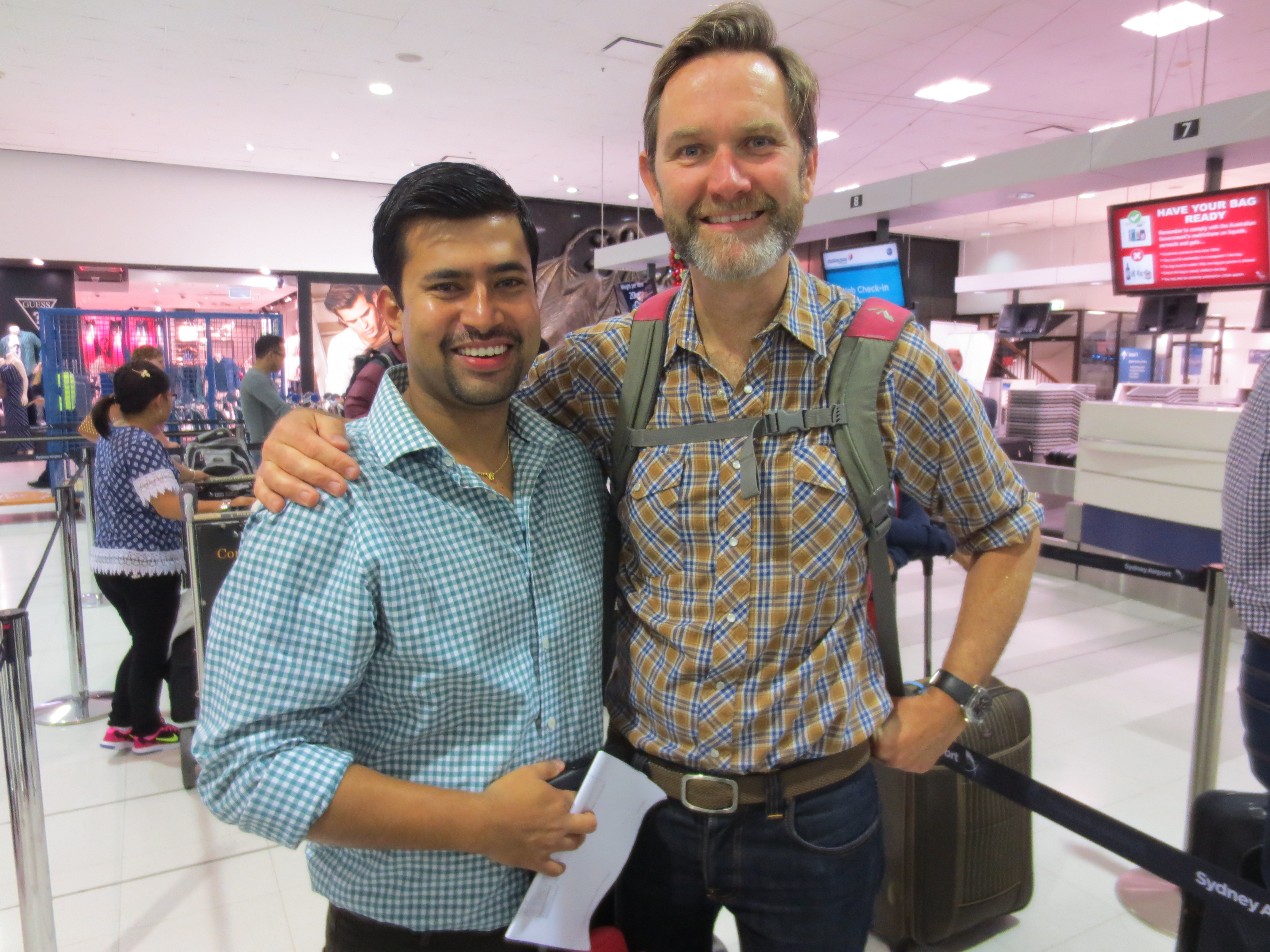 Anil Shrestha and Dr Nick Burns