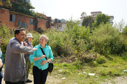 Dr Kunwar and Robyn on site 2015