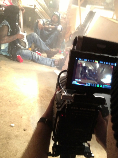 Chevy Woods video shoot for As She Sings