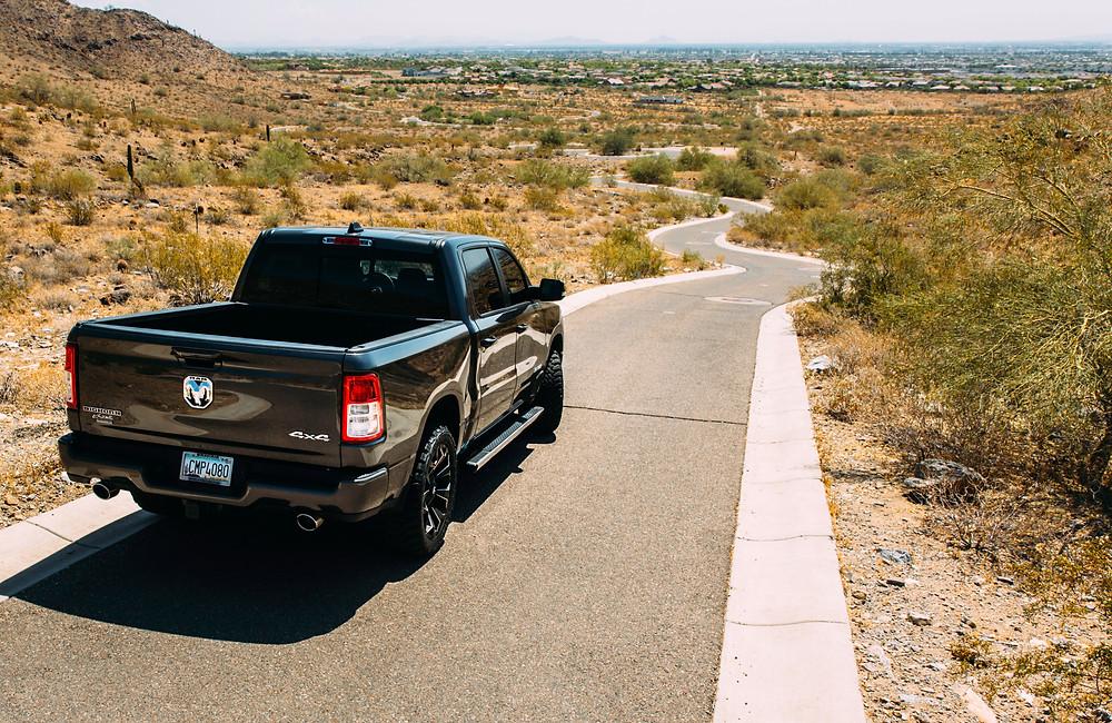 2020 Dodge Ram 1500 black truck