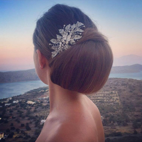 Crete wedding hair by Lynnette Chasmer