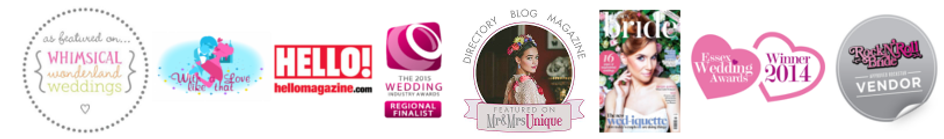 Essex wedding hairstylist featured in blogs online award winning stylist Essex Bride Hello Rock 'n' Roll Bride whimsical weddings mr and mrs unique wedding industry awards Essex