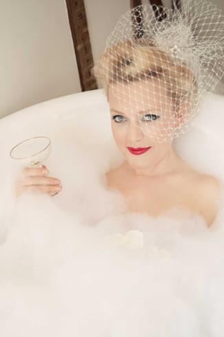 Bride in the Bath Vintage styling Lynnette Chasmer