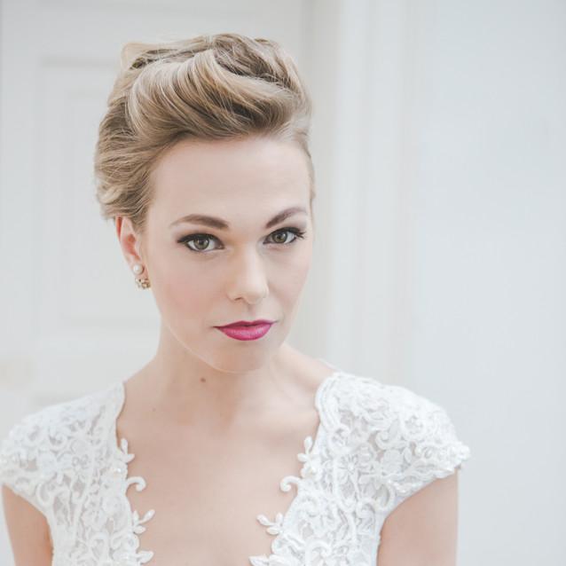 Luxury wedding hairstyling Lynnette Chasmer mua TeamGlam