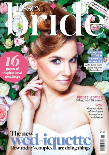 Editorial Cover of Bride magazine Hair Lynnette Chasmer mua Teamglam