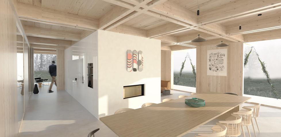 Maison en lisière - Vue 1 intérieure