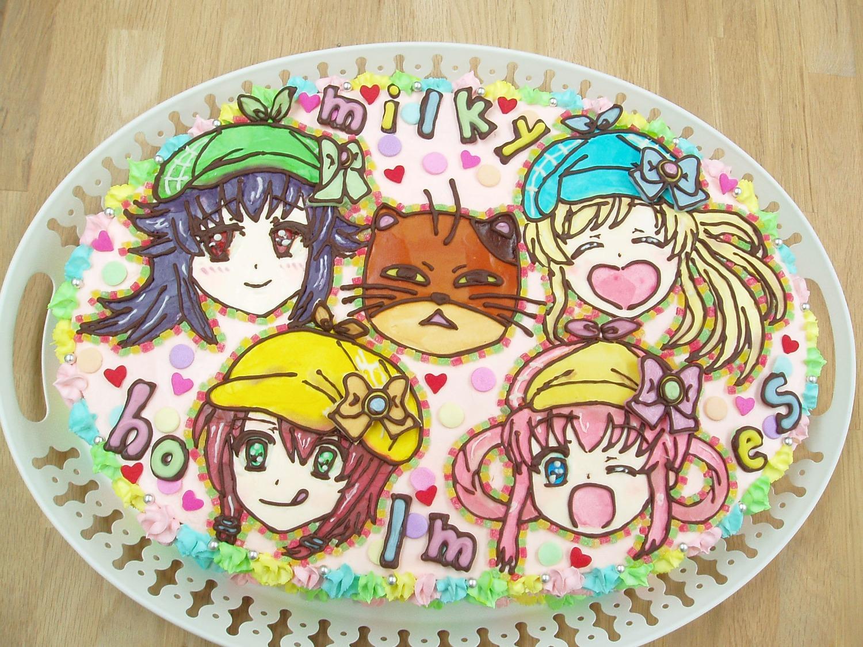 【イラストケーキ】