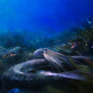 """Suburban octopus"" (Detail)"