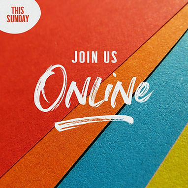 Join Us Online This Sunday Color Wall -