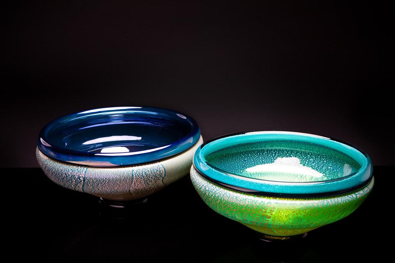 Flip-Lip Bowl (Iris Black, Turquoise)