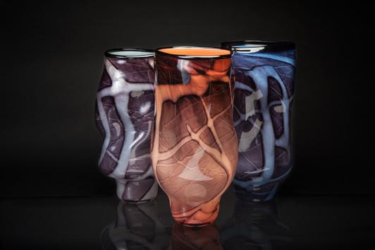 Organic Vessels (Ice/Peach/Azure)