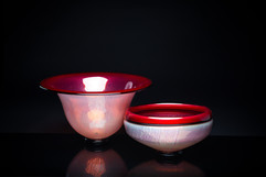 Bell Bowl and Flip-Lip Bowl (Cherry)