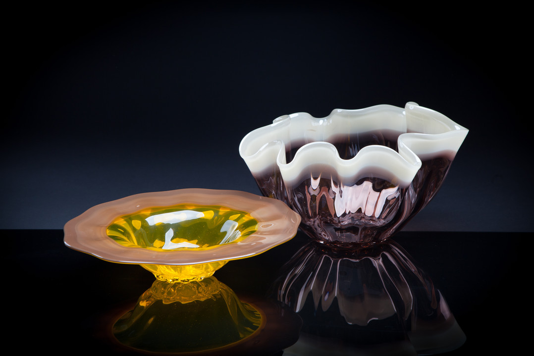 Low Bell and Fluted Bowl