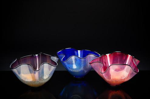 Small Fluted Bowls (Amythest, Cobalt, Primrose)