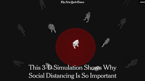 NYT Droplet Visualisation The New York Times