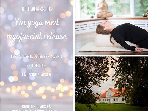 Juleworkshop i yin yoga med myofascial release -UDSOLGT